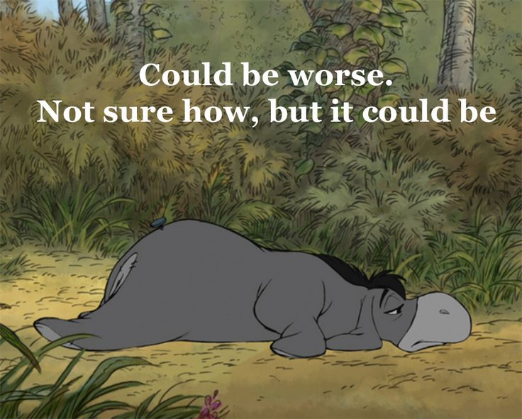 What story do you tell yourself? Eeyore's optimism (it's all about perspective!)